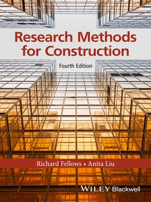 cover image of Research Methods for Construction