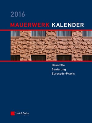 cover image of Mauerwerk Kalender 2016