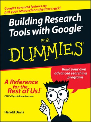 cover image of Building Research Tools with Google For Dummies