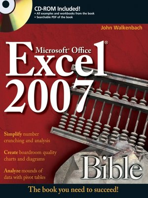 cover image of Excel 2007 Bible