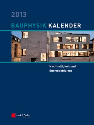 cover image of Bauphysik-Kalender 2013
