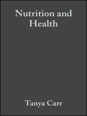 cover image of Nutrition and Health