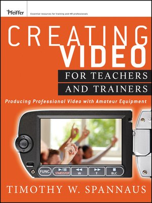 cover image of Creating Video for Teachers and Trainers