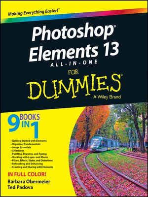 cover image of Photoshop Elements 13 All-in-One For Dummies