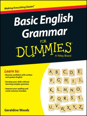 cover image of Basic English Grammar for Dummies