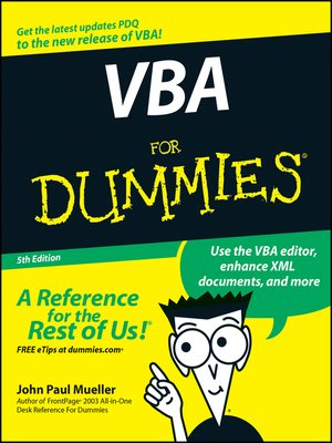 cover image of VBA For Dummies