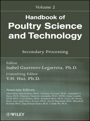 cover image of Handbook of Poultry Science and Technology, Secondary Processing