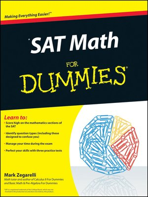 cover image of SAT Math For Dummies