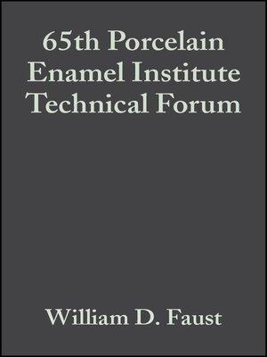 cover image of 65th Porcelain Enamel Institute Technical Forum