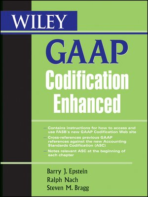 cover image of Wiley GAAP Codification Enhanced