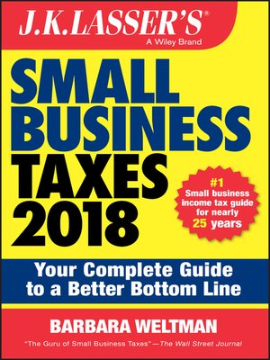 cover image of J.K. Lasser's Small Business Taxes 2018