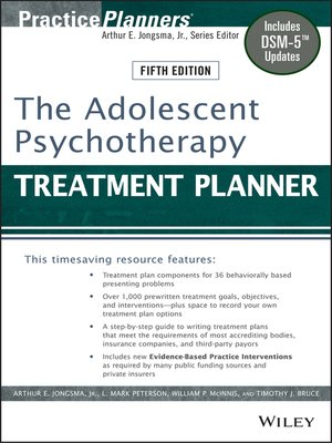 cover image of The Adolescent Psychotherapy Treatment Planner