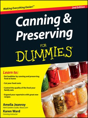 cover image of Canning and Preserving For Dummies