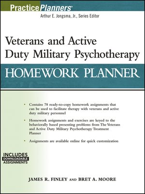 cover image of Veterans and Active Duty Military Psychotherapy Homework Planner