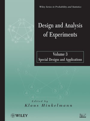 cover image of Design and Analysis of Experiments, Special Designs and Applications