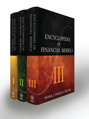 cover image of Encyclopedia of Financial Models, 3 Volume Set