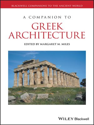 cover image of A Companion to Greek Architecture