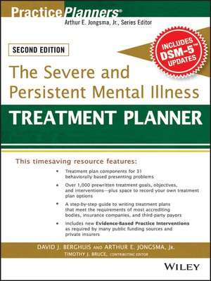 The Severe And Persistent Mental Illness Treatment Planner By Arthur