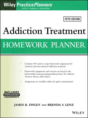 cover image of Addiction Treatment Homework Planner