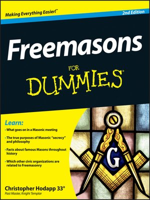 cover image of Freemasons For Dummies