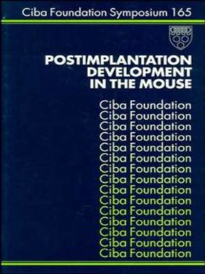 cover image of Postimplantation Development in the Mouse