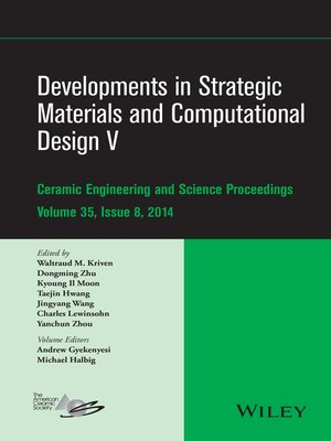 cover image of Developments in Strategic Materials and Computational Design V