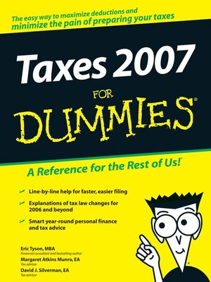 cover image of Taxes 2007 For Dummies