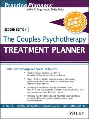 cover image of The Couples Psychotherapy Treatment Planner, with DSM-5 Updates