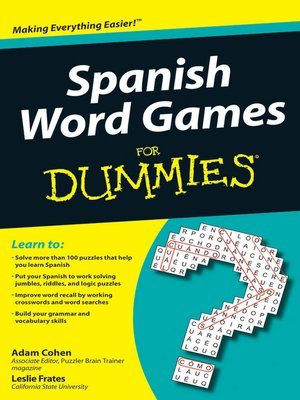 cover image of Spanish Word Games For Dummies