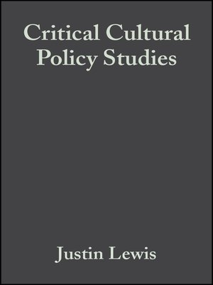 cover image of Critical Cultural Policy Studies