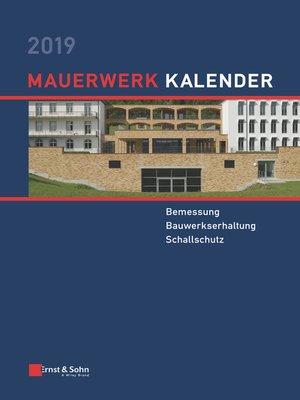 cover image of Mauerwerk Kalender 2019