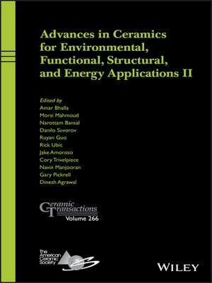 cover image of Advances in Ceramics for Environmental, Functional, Structural, and Energy Applications II