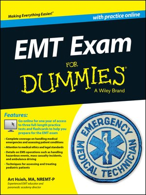cover image of EMT Exam For Dummies with Online Practice