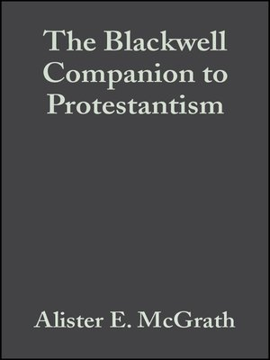 cover image of The Blackwell Companion to Protestantism