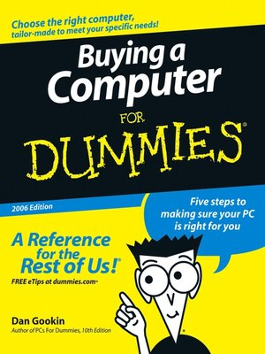 cover image of Buying a Computer for Dummies
