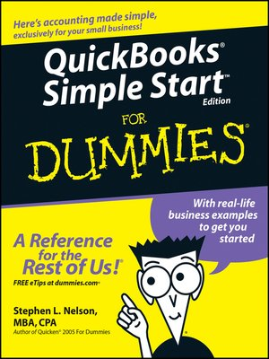 cover image of QuickBooks Simple Start For Dummies