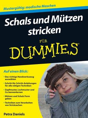 cover image of Schals und Mützen stricken für Dummies