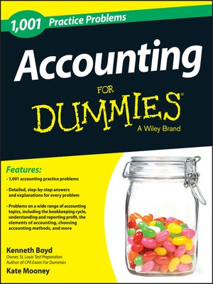 cover image of 1,001 Accounting Practice Problems For Dummies