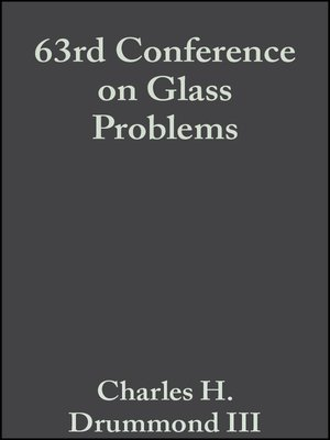 cover image of 63rd Conference on Glass Problems