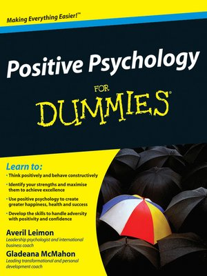 cover image of Positive Psychology For Dummies