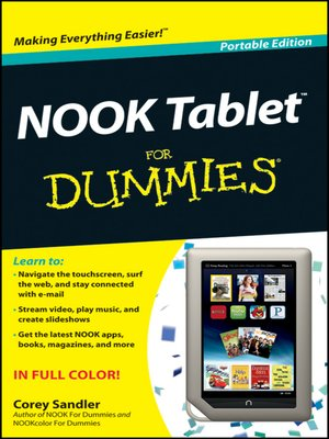 cover image of NOOK Tablet For Dummies