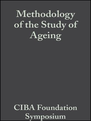 cover image of Methodology of the Study of Ageing