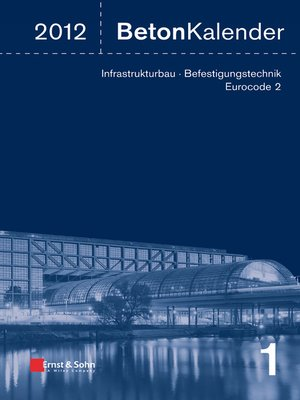 cover image of Beton-Kalender 2012