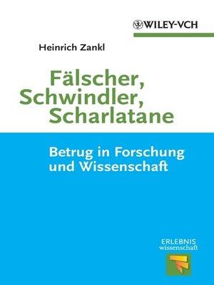 cover image of Fälscher, Schwindler, Scharlatane