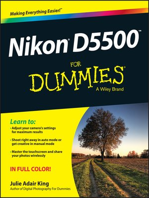 cover image of Nikon D5500 For Dummies