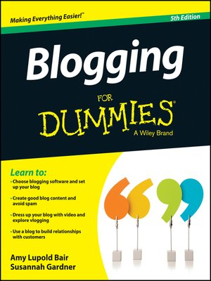 cover image of Blogging For Dummies