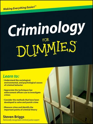 cover image of Criminology For Dummies