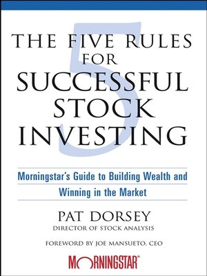 cover image of The Five Rules for Successful Stock Investing