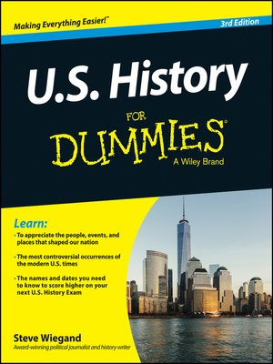 cover image of U.S. History For Dummies