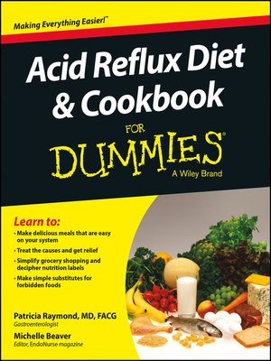 cover image of Acid Reflux Diet and Cookbook For Dummies
